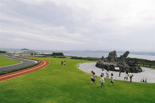 桜島イベント広場ゾーン(桜島赤水採石場跡地)