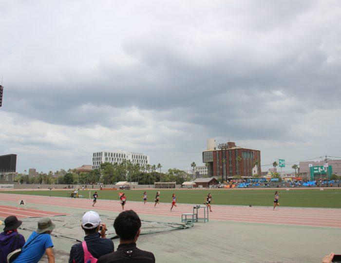 『第35回南日本小学生陸上競技大会兼「第34回全国小学生陸上競技交流大会」鹿児島県予選会』で国体等のPRを行いました
