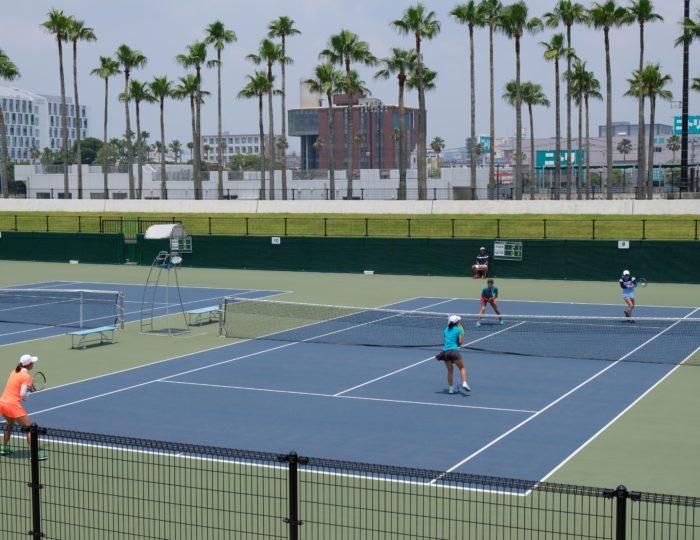 九州ブロック大会(テニス競技)で国体等のPRを行いました