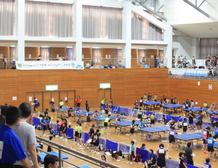 「平成30年度第2回県ジュニア夢プラン小学生・中学生卓球大会」でかごしま国体等をPR!