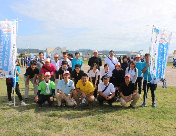 「第18回かごしま錦江湾サマーナイト大花火大会」のボランティア清掃に参加しました