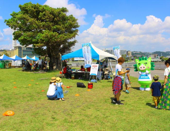 「第4回錦江湾潮風フェスタ」でフライングディスク体験会を行いました!