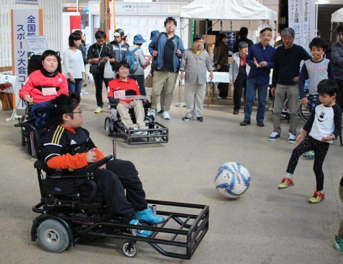 「第7回わくわく福祉交流フェア」で電動車椅子サッカーの紹介を行いました!