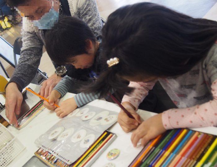 オプシアミスミで「手作り応援のぼり旗」の展示をしました!